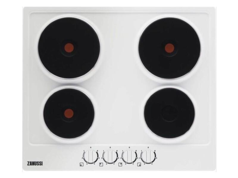 Zanussi elektrische kookplaat 60cm 4 zones wit