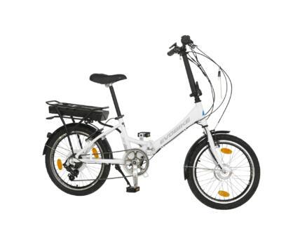 Evobike elektrische vouwfiets voorwielmotor wit