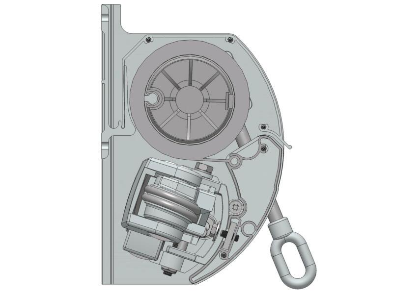 Domasol elektrische zonneluifel F10 350x250 cm bruin-wit strepen met crèmewit frame