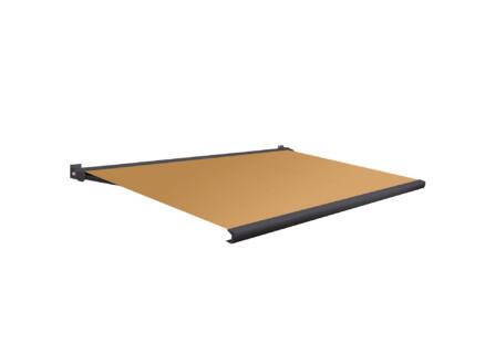 Domasol elektrische zonneluifel F20 300x250 cm + afstandsbediening oranje met antracietgrijs frame