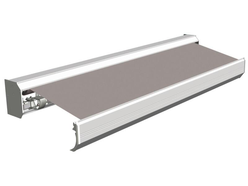 Domasol elektrische zonneluifel F30 400x300 cm grijs met crèmewit frame