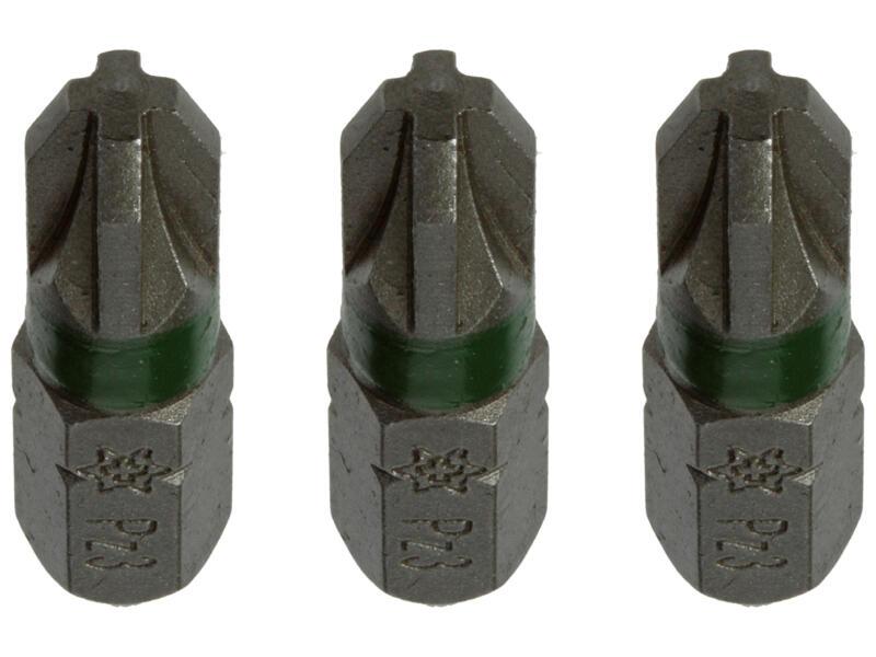 Mack embout PZ3 25mm 3 pièces