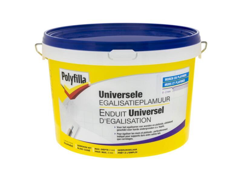 Polyfilla enduit d'égalisation universel 4kg blanc cassé