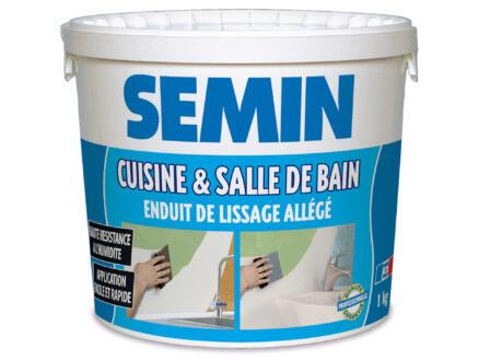 Semin enduit de lissage pour cuisine et salle de bains 1kg