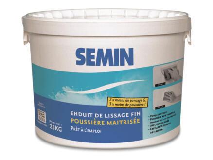 Semin enduit de lissage poussière maitrisée 25kg