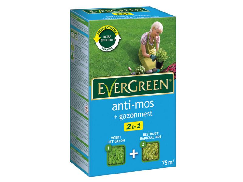 Evergreen engrais gazon & antimousse 75m²