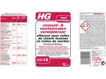 HG enlève ciment & mortier 1l