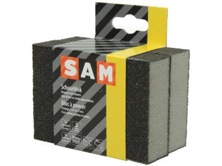 Sam éponge abrasive fin/moyen + éponge abrasive moyen/gros set de 2