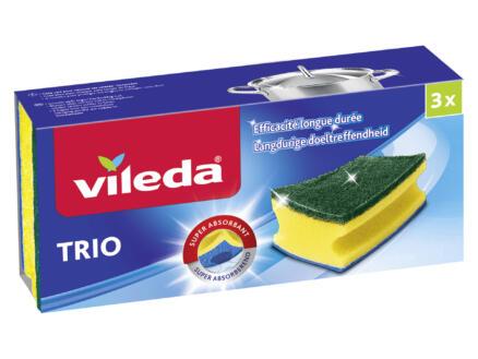 Vileda éponge verte 3 pièces