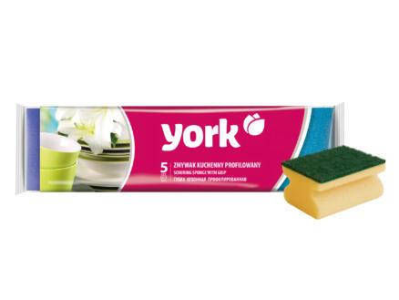 York éponge verte 5 pièces