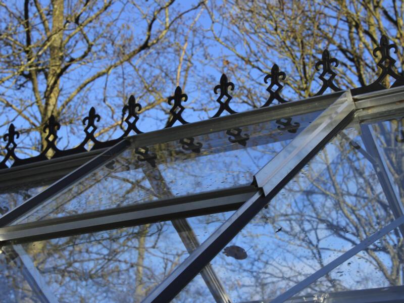 Royal Well faîte victorienne serre Blockley 128 et Bourton 1210 noir