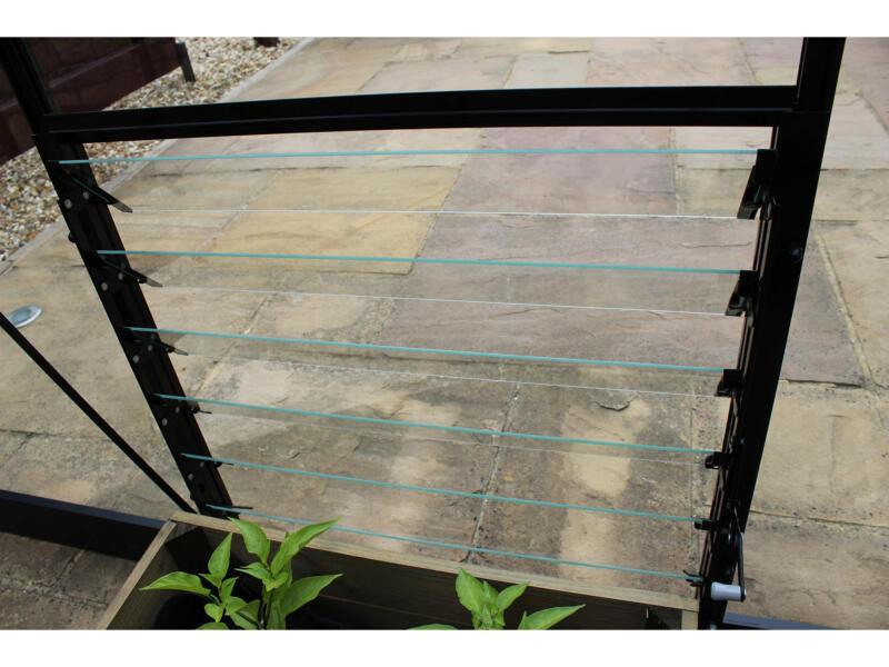 Royal Well fenêtre à louvres 61x61 cm 6 lamelles noir