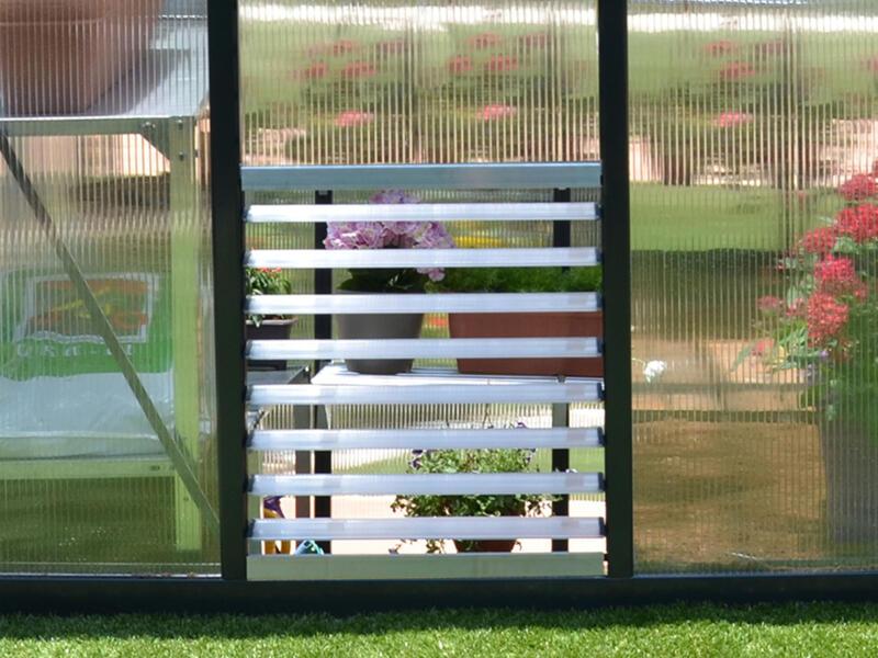 Palram fenêtre à louvres 62x61 cm 8 lamelles argent
