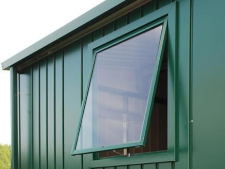 Biohort fenêtre abri de jardin Europa gris foncé métallique