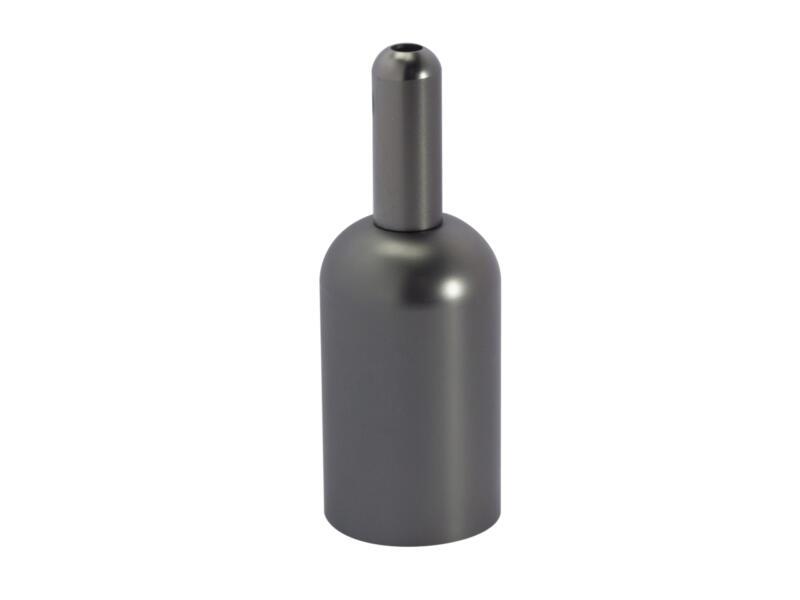 Chacon fitting E27 metaal titanium recht