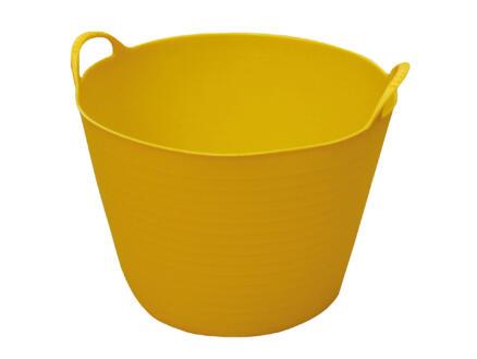 Toolland flexibele tuinmand 14l geel