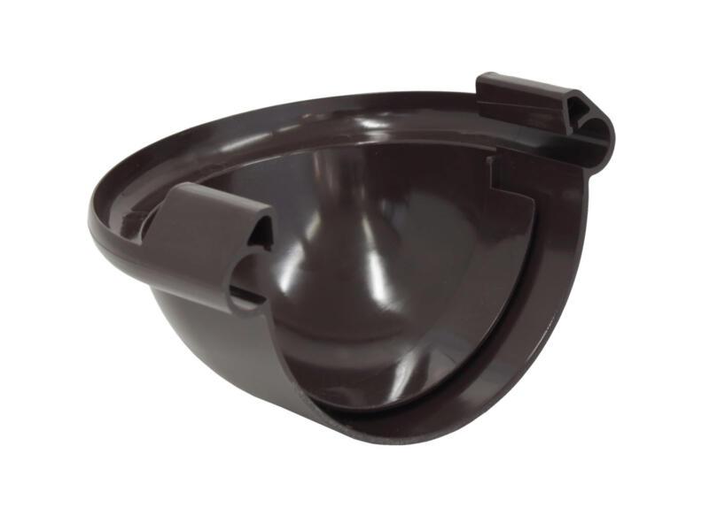 Scala fond bombé pour gouttière G125 PVC brun