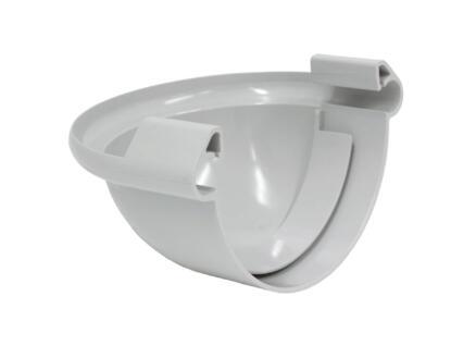 Scala fond bombé pour gouttière G125 PVC gris clair