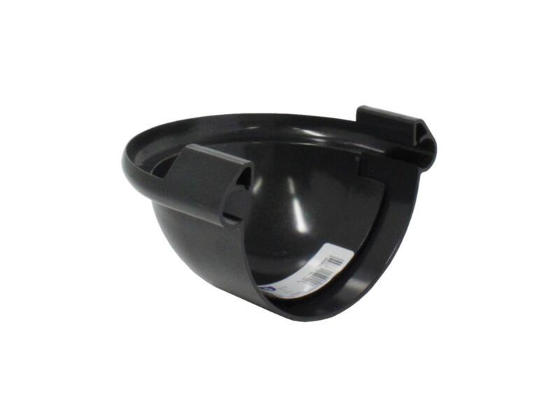 Scala fond bombé pour gouttière G125 PVC gris foncé