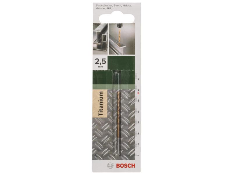 Bosch foret à métaux HSS-TiN 2,5mm
