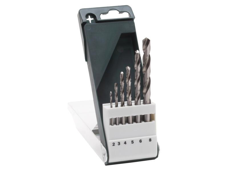 Bosch forets à métaux HSS-G 2-8 mm set de 6