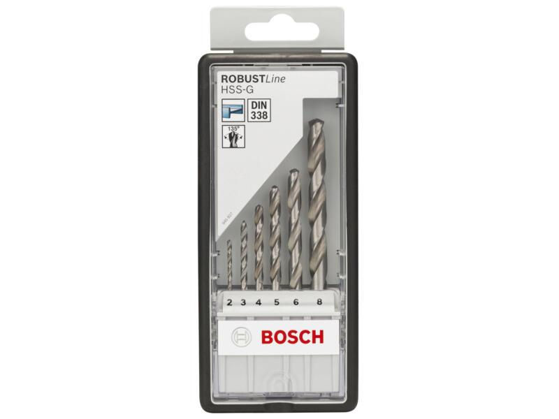 Bosch Professional forets à métaux HSS-G 2-8 mm set de 6