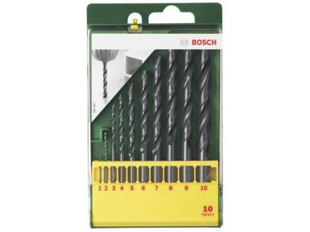 Bosch forets à métaux HSS-R 1-10 mm set de 10