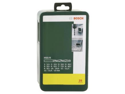 Bosch forets à métaux HSS-R 1-13 mm set de 25
