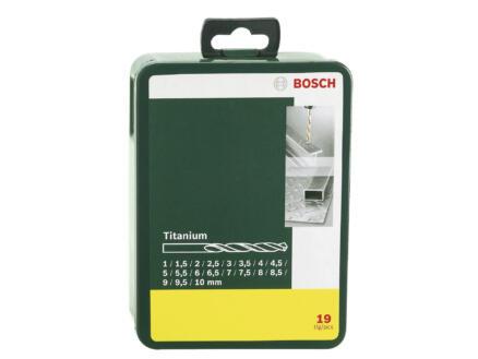 Bosch forets à métaux HSS-TiN 1-10 mm set de 19