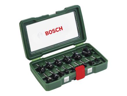 Bosch frezenset HM 15-delig