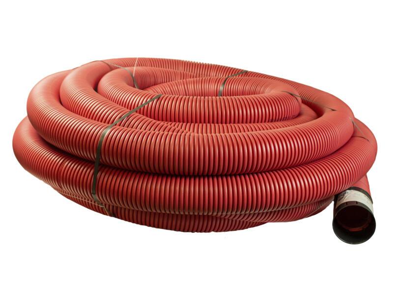 Scala gaine électrique 110mm 25m rouge