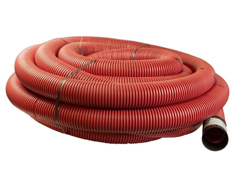 Scala gaine électrique 75mm 25m rouge