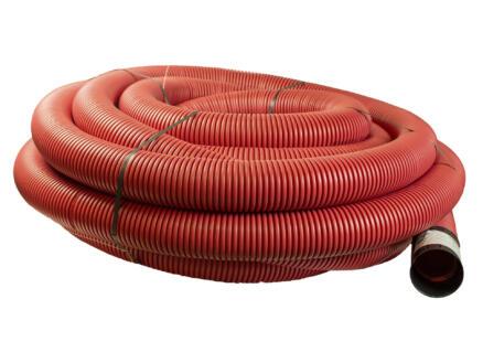 Scala gaine électrique 90mm 25m rouge