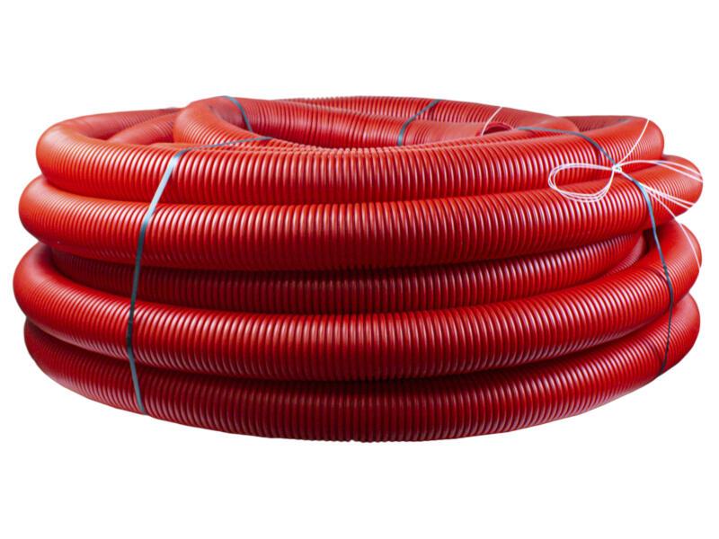 Scala gaine électrique 90mm 50m rouge