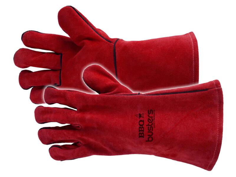 Busters gants de jardinage barbecue XL cuir rouge