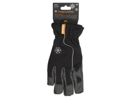 Fiskars gants de jardinage hiver 10 coton noir