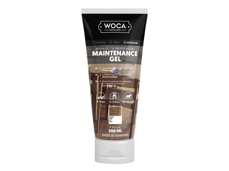 Woca gel d'entretien bois 200ml blanc