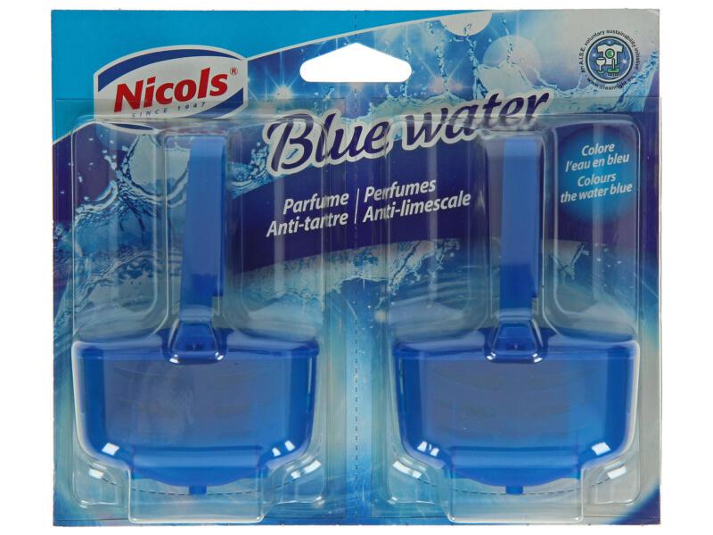 Nicols geparfumeerde toiletblok blauw 2 stuks