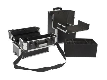 Perel gereedschapstrolley 37x27x67 cm aluminium zwart