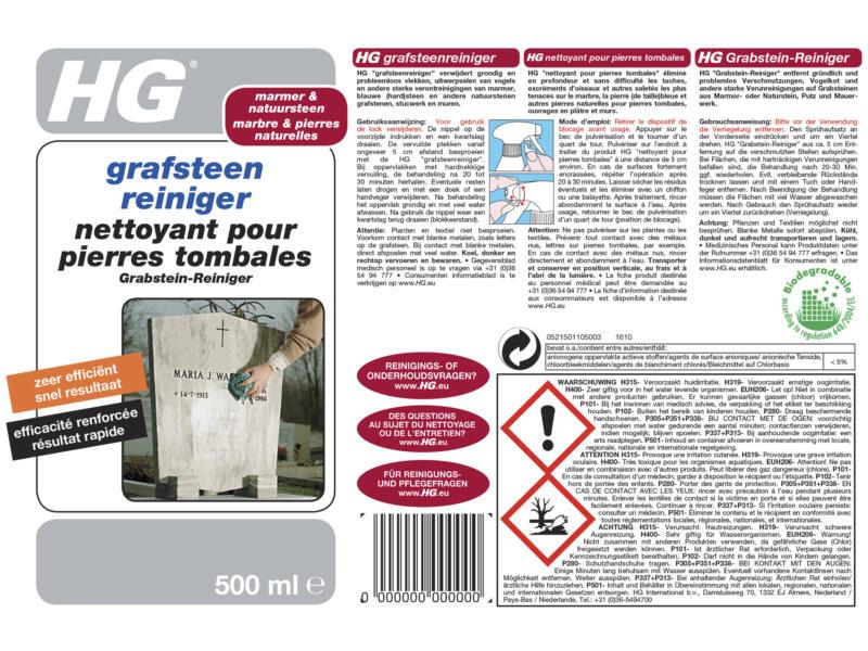 HG grafsteenreiniger 500ml