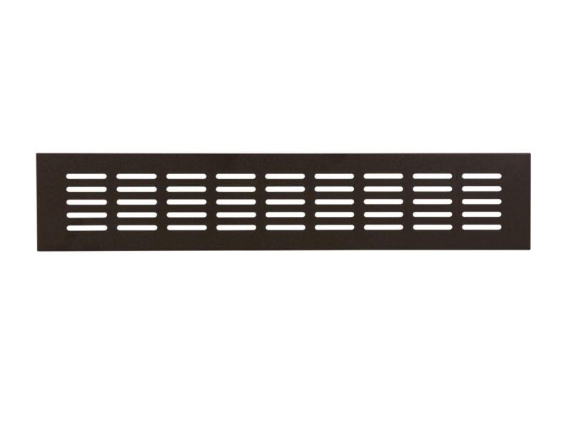 Renson grille d'aération 500x80 mm aluminium noir