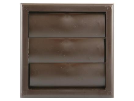 Renson grille de hotte 154x154 mm PVC brun