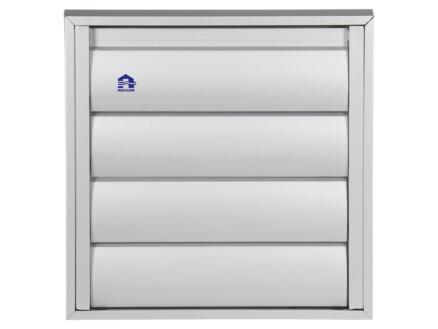 grille de hotte 173x173 mm aluminium gris