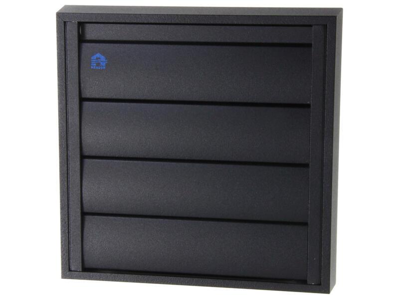 Renson grille de hotte 173x173 mm aluminium noir