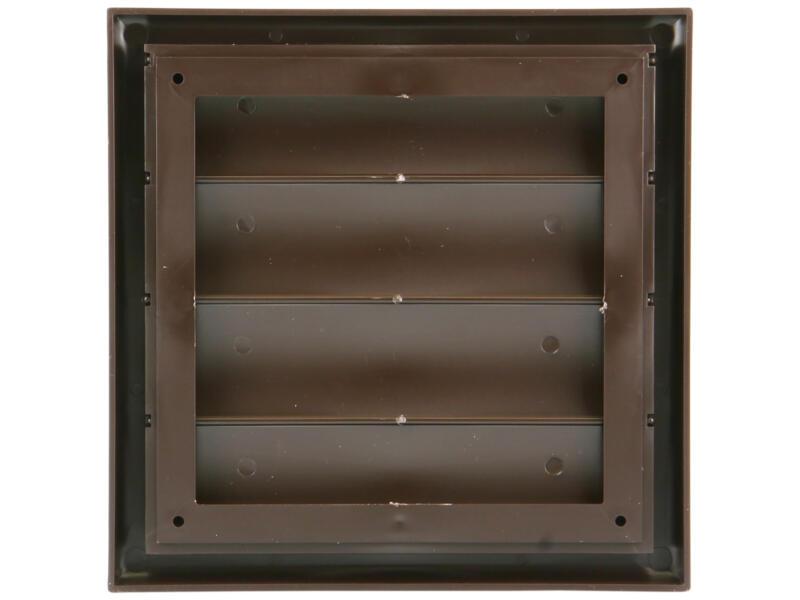 Renson grille de hotte 187x187 mm PVC brun