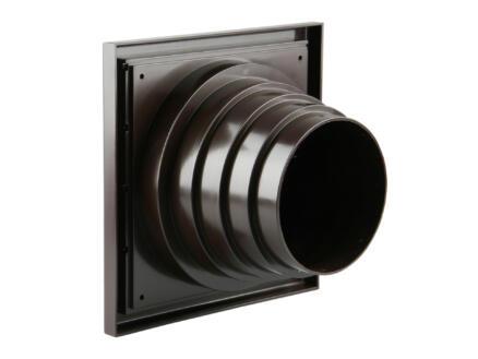 Renson grille de hotte avec réduction 100mm PVC brun