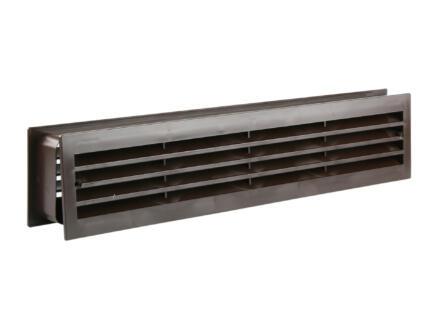 Renson grille de porte 450x90 mm PVC brun