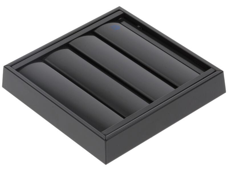 Renson grille de supression 173x173 mm aluminium anthracite