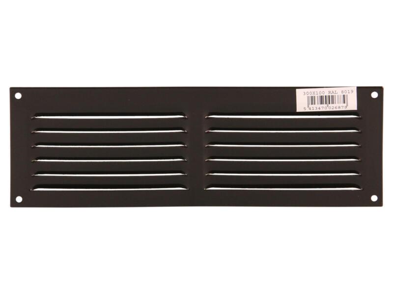 Renson grille estampée 300x100 mm aluminium brun