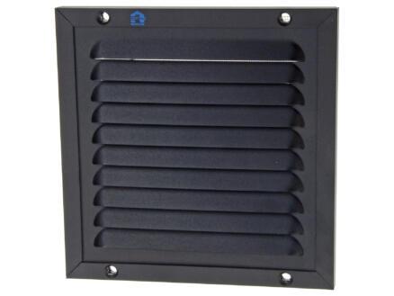 Renson grille estampée avec cadre 150x150 mm aluminium noir